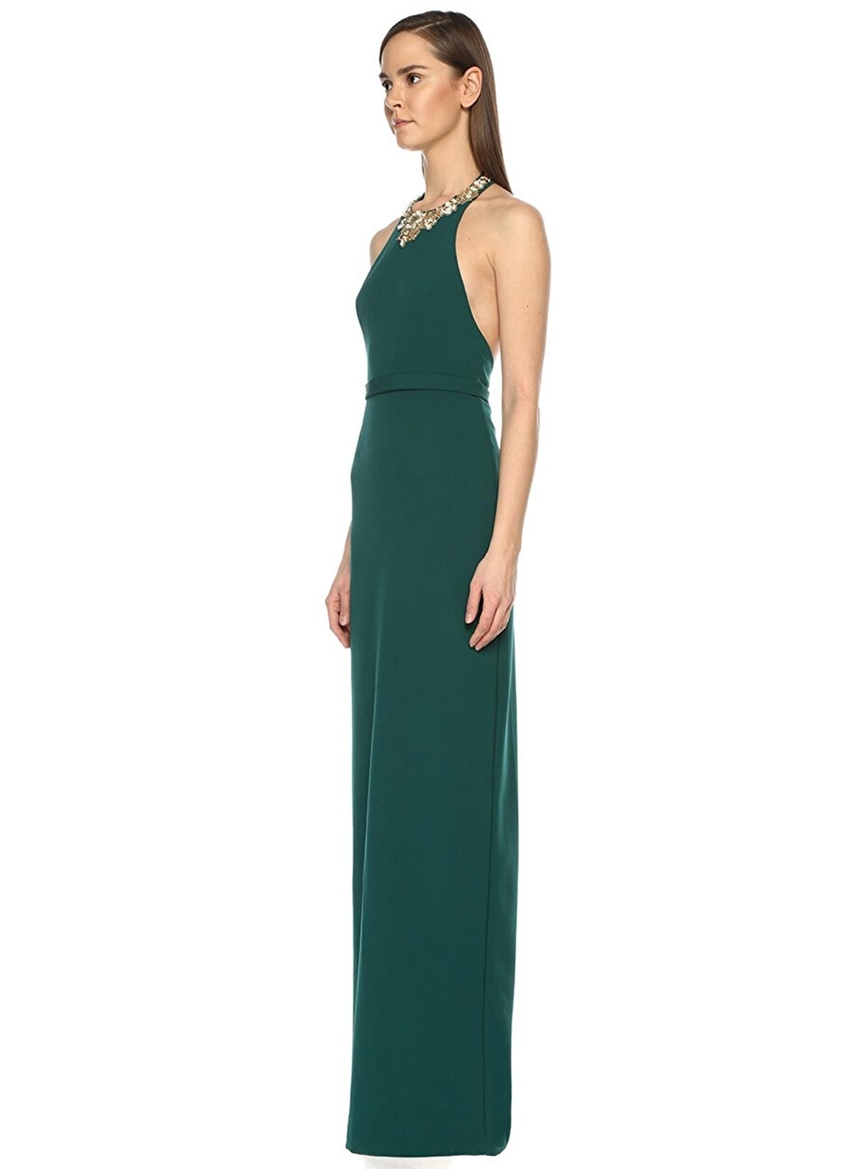 2fa8e5dd13c10 Marchesa Notte Kadın Abiye Elbise Koyu Yeşil | Morhipo | 18798833